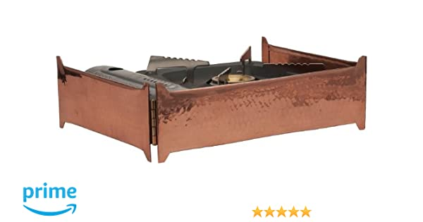 Sertodo Copper, Collapsible Butane Stove Skirt for Catering or Serving Display, Hand Hammered 100% Pure Copper