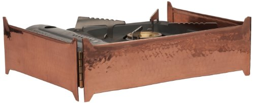 (Sertodo Copper, Collapsible Butane Stove Skirt for Catering or Serving Display, Hand Hammered 100% Pure Copper)