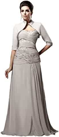 6f5807c0527 Snowskite Women s Sweetheart Chiffon Beaded Mother of the Bride Dress with  Jacket