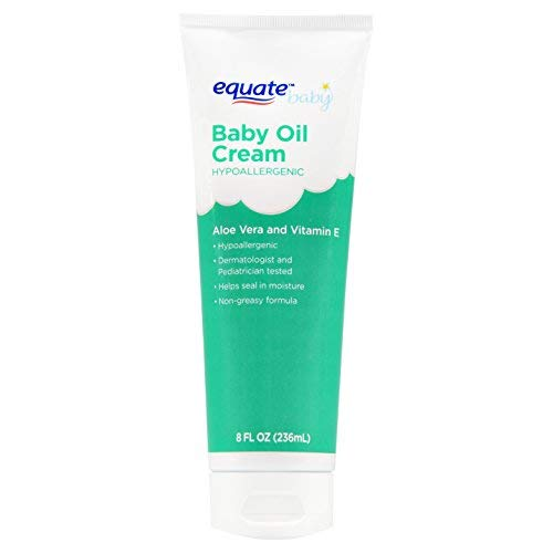 Equate Aloe & Vitamin E Baby Oil Cream 8 oz (Pack of 4)