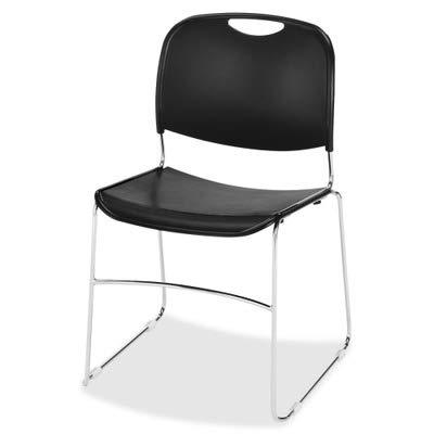 """Lorell LLR42938 Lumbar Support Stacking Chair, 1.7"""" Height X 9"""" Width X 12"""" Length"""