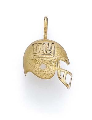 NY Giants satiné poli 14 carats-Pendentif Casque JewelryWeb