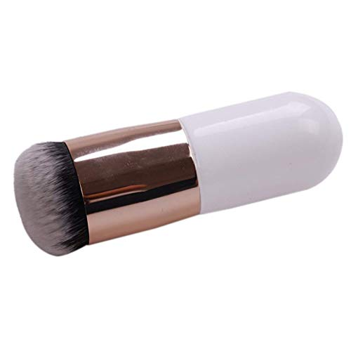 Fliyeong Durable Foundation Brush BB Cream Makeup Brushes Loose Powder Brush Flat Round Head Cosmetic Makeup Brushes