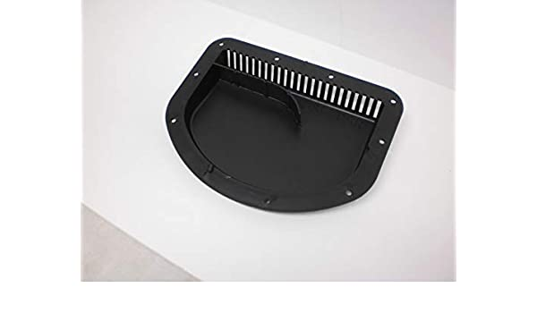Black Side Wall Forced Air Vent Cowl Exterior Motorcycle Trailer Camper RV