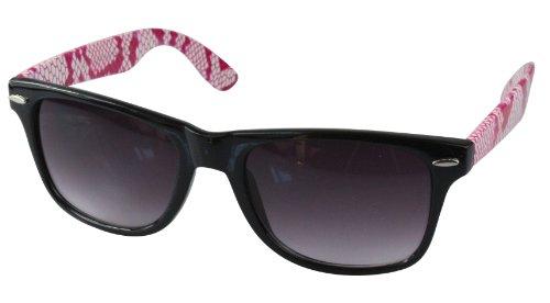 differentes retro Wayfarer Snake monture Pink couleurs de soleil 80's style Lunettes qw0ZCRx