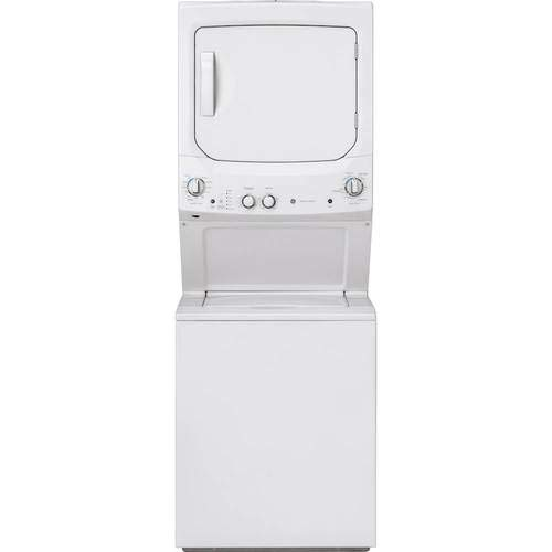 GE GUD27ESSMWW Unitized Spacemaker 3.8 Washer with Stainless Steel Basket and 5.9 Cu. Ft. Capacity Electric Dryer, White (Best Washer And Dryer In One)