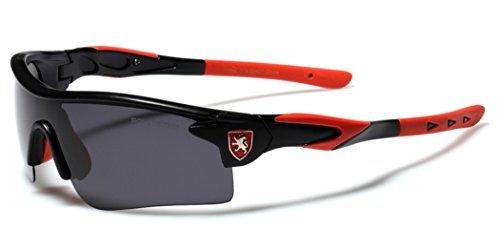 Premium Polarized Sports Cycling Fishing Sunglasses - Black & - Red Polarised Sunglasses
