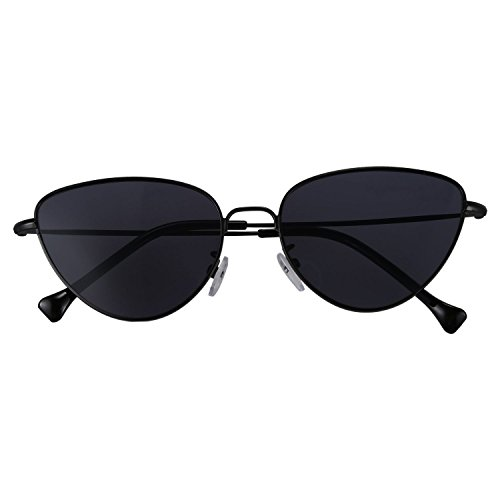 de de gafas reflexivas moda Negro S17011 estilo retro TOOGOO de de Gafas sol ojo de gato neutrales Rojo de senora verano 6nRa7RT