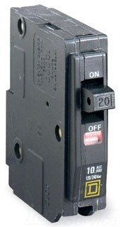 QO1201021 SQUARE D 20 AMP, 1 POLE SHUNT TRIP BREAKER, 1P 20A 120V COIL PLUG-IN STYLE by Square D by Square D