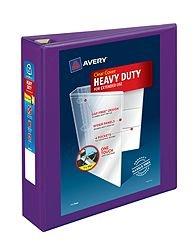 Avery 79777 Heavy-Duty View Binder w/Locking EZD Rings 2'' Cap Purple