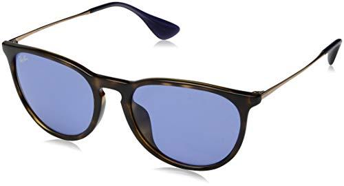 Ray-Ban RB4171F Erika Round Asian Fit Sunglasses, Tortoise/Dark Pink, 54 ()