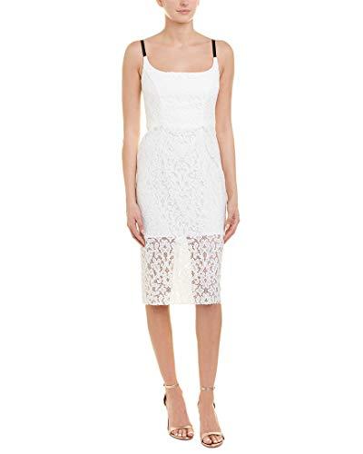 MILLY Womens Nia Sheath Dress, 2, White