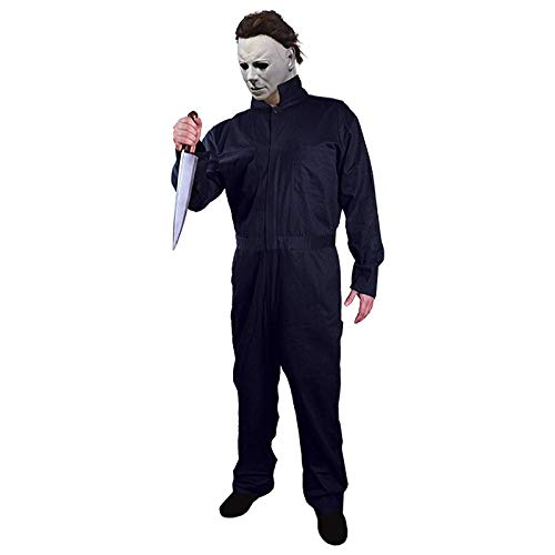 Men's Trick Or Treat Michael Myers Coveralls Costume Navy Blue