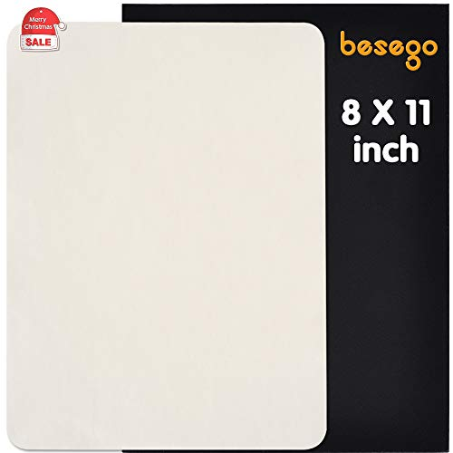 - Besego Leather Repair Patch, Leather Adhesive Kit for Sofas, Drivers Seat, Couch, Handbags, Jackets - 8 × 11inch(White)