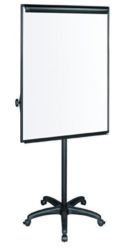 MasterVision Mobile Easel, 27.5'' x 39'' Dry Erase Board, Presentation Easel with Black Frame and Base by MasterVision