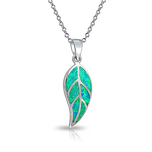 Green Opal Pendant - CiNily Green Opal Leaf Pendant Necklace for Women Silver Plated Jewelry Gift Gemstone Silver Pendant 1 1/4