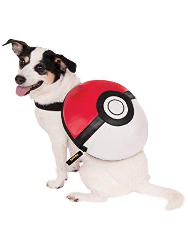 Pikachu Dog Costumes (Rubies Costume Poke Ball Backpack, Small/Medium)