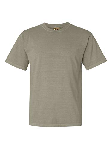 T-shirt Washed Garment Sleeve Short (Chouinard Men's Ring-Spun Garment-Dye Bottom Hem T-Shirt, Sandstone, Large)