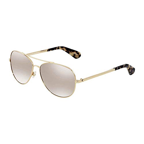 - Kate Spade New York Womens Avaline 2/S Gold Havana/Brown Gradient Mirror One Size One Size