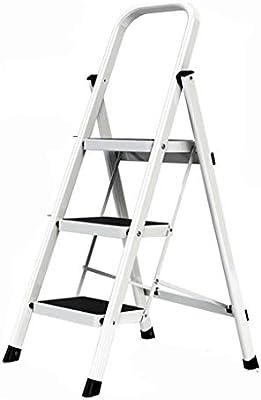 QFF Antideslizante tres pasos de escalera, Zona de cuatro pasos de escalera de tijera familia de almacén/restaurante/teatro/blanco escaleras de tijera doblez: Amazon.es: Bricolaje y herramientas