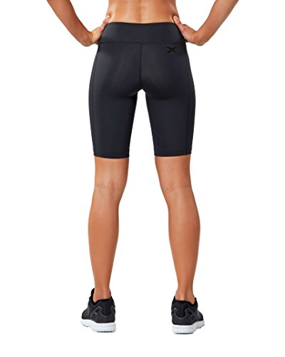 2XU Women's Mid-Rise Athletic Compression Shorts, Black/Dotted Black Logo, Small by 2XU (Image #2)