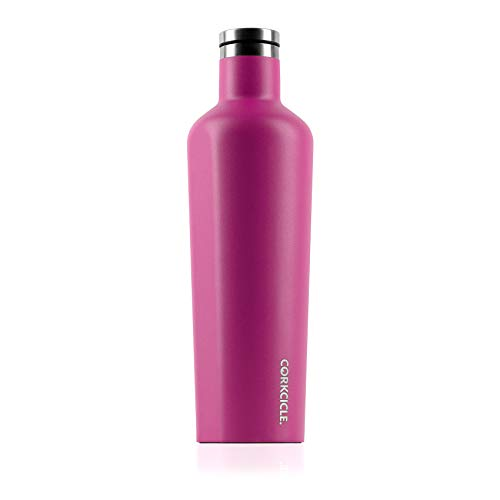 Corkcicle Canteen Waterman Collection - Water Bottle & Thermos - Triple Insulated Shatterproof Stainless Steel, Waterman Pink, 25 oz