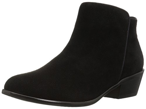 206 Collective Women's Magnolia Suede Low Heel Ankle Bootie, Black, 8.5 B (Black Leather Woman Boot)