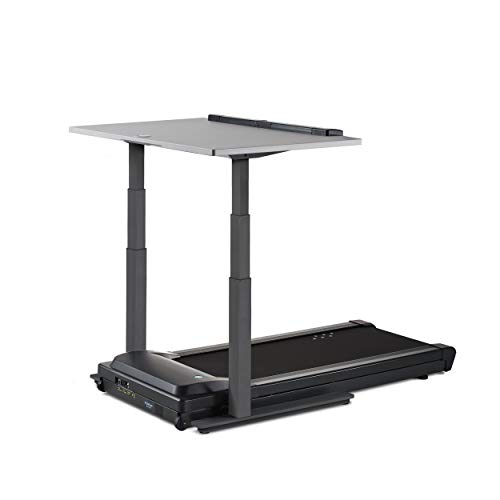 "LifeSpan TR1200-DT7 Treadmill Desk Charcoal Frame with 48"" Desktop - Gray"