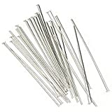 Sterling Silver Head Pins 24 Ga. 2 Inches (20)