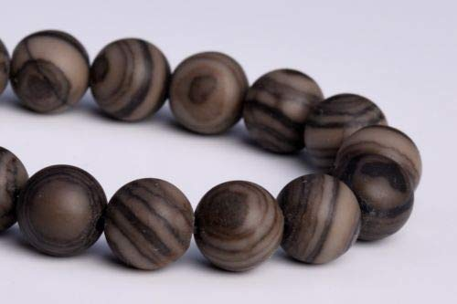 10mm Natural Matte Coffee Brown Swirl Jasper Grade Round Loose Beads 7.5'' Crafting Key Chain Bracelet Necklace Jewelry Accessories Pendants