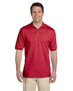 (Jerzees Adult Jersey Polo with SpotShield True Red(Large))