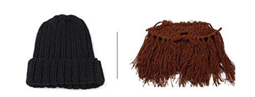 Creazy® Man Bearded Winter Hat Caps Handmade Knit Winter Warm Cap
