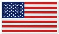"""Master Magnetics Magnetic U.S.A. flags, measures 5"""" x 3"""" 2 p"""