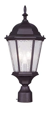 Livex Lighting 7563-07 Hamilton 3 Light Outdoor Post Head, Bronze (Livex Light Fixture)