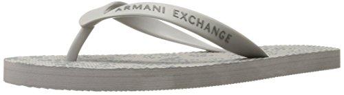 A | X Armani Exchange Menns Logo Print Flip Flop Logo Print Legering