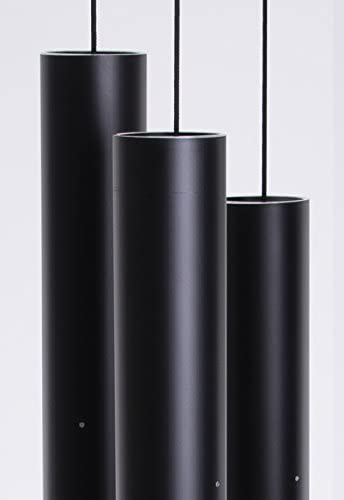 Music of the Spheres Hawaiian Mezzo Wind Chime Model HM Black Protective Finish Hanging Length is 38-Inch 1 Each 5 Pounds