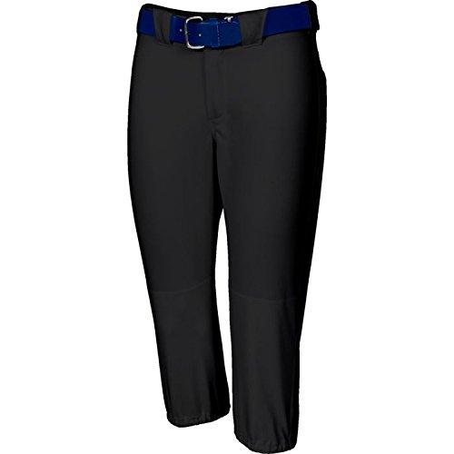 Russell Athletic Girl 's浅いソフトボールパンツ B00EOQZ3MQ L|ブラック ブラック L