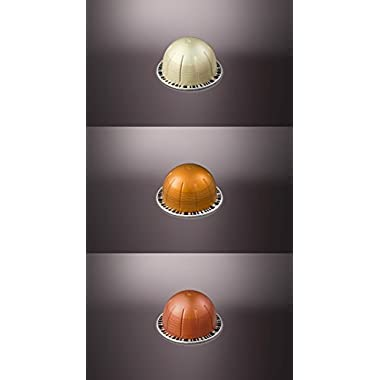 Nespresso Vertuoline Flavored Assortment. 1 sleeve of each: Vanizio, Caramelizio & Hazelino. Total of 30 capsules