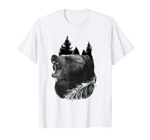 T Shirt with Grizzly Bear