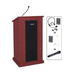 AmpliVox - SW470-MH/S1605 - Lectern w/Sound, Mahogany, 45x24x20 (S1605 Lectern)
