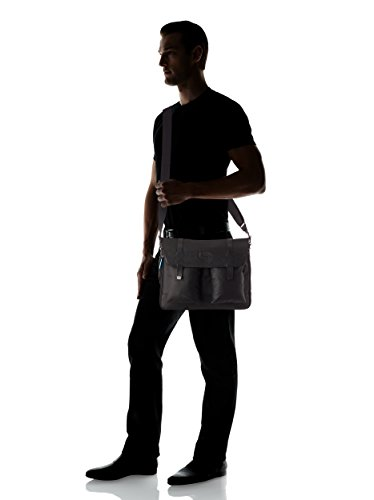 Flap over, expandable computer messenger bag Piquadro ca2985w65-n