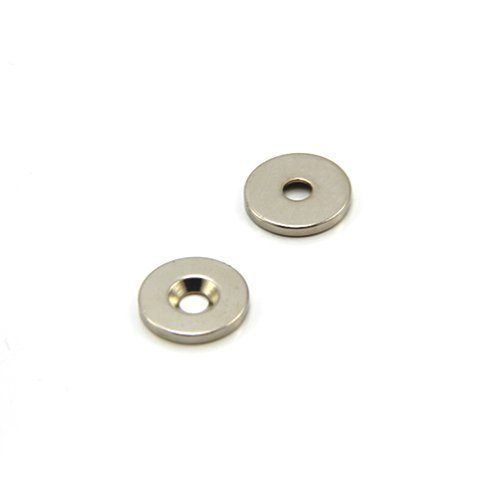 2.6kg Pull South Magnet Expert 15mm dia x 2mm thick x 4.2mm c//sink Neodymium Magnet Pack of 2