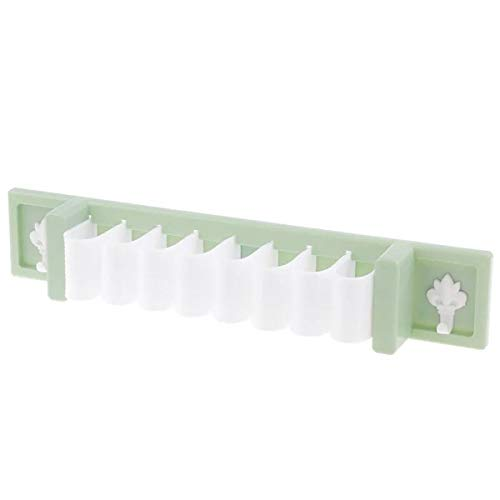kitchen Wall Pot Rack,Wall Hanging Shelf Cookware holder Kitchen tableware separation holder Bathroom Organizer Shower Kitchen Storage Rack Wall Mounted No Drilling Nontoxic plastic solid GREEN COLOR