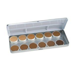 Ben Nye Olive & Brown Matte Foundation Pallette BFP-12 - refillable in metal box!
