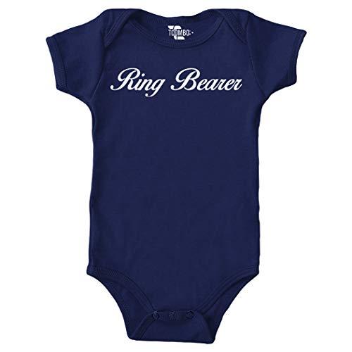 Tcombo Ring Bearer Bodysuit (Navy Blue, 24 Months) ()