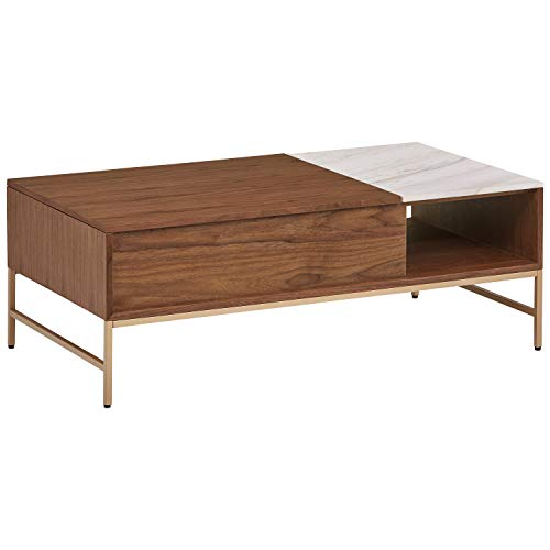 Rivet Modern Wood Coffee Table, 24