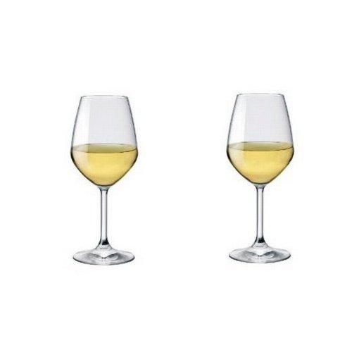 (Bormioli Rocco Restaurant White Wine Glasses, Clear, Set of 2)