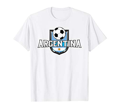 (Argentina Soccer Ball T-Shirt Argentinian Flag Football)