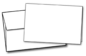 Amazon.com : 80lb White Half Fold Greeting Cards & Envelopes ...