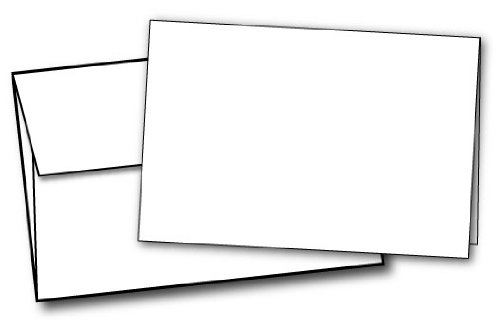 80lb White Half Fold Greeting Cards & Envelopes - Paper Measures (11